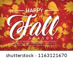 happy fall autumn season... | Shutterstock .eps vector #1163121670