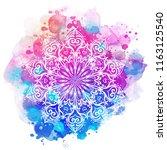 mandala over colorful... | Shutterstock .eps vector #1163125540