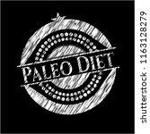 paleo diet on blackboard | Shutterstock .eps vector #1163128279
