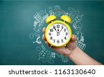time management concept . mixed ... | Shutterstock . vector #1163130640
