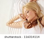 beautiful blonde have a good... | Shutterstock . vector #116314114