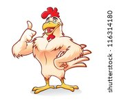 cartoon chicken a strong and... | Shutterstock .eps vector #116314180