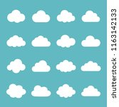 cloud icon set | Shutterstock .eps vector #1163142133