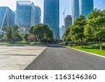 empty urban road with modern... | Shutterstock . vector #1163146360