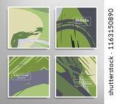 creative artistic backgrounds... | Shutterstock .eps vector #1163150890