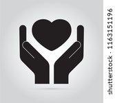 friendship love sympol. hands... | Shutterstock .eps vector #1163151196
