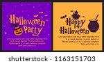 halloween banner vector... | Shutterstock .eps vector #1163151703