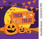 halloween banner vector... | Shutterstock .eps vector #1163151709