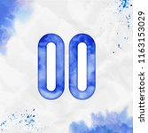 pause outline watercolor icon.... | Shutterstock .eps vector #1163153029