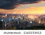 wireless communication network... | Shutterstock . vector #1163153413