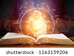 horoscope astrology zodiac... | Shutterstock . vector #1163159206