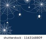 white spiders vector for... | Shutterstock .eps vector #1163168809
