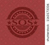 sos red emblem. vintage. | Shutterstock .eps vector #1163173336