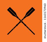 icon of  boat oars. orange... | Shutterstock .eps vector #1163173960