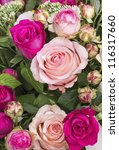 rose bouquet in pink   Shutterstock . vector #116317660