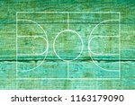 basketball court on wood... | Shutterstock . vector #1163179090