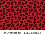red leopard seamless pattern.... | Shutterstock .eps vector #1163185696