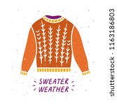 sweater graphic illustration... | Shutterstock .eps vector #1163186803