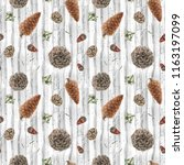 seamless pattern with... | Shutterstock . vector #1163197099