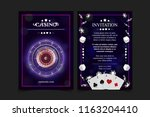 casino background style ace ... | Shutterstock .eps vector #1163204410
