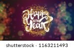 happy new year on the... | Shutterstock . vector #1163211493