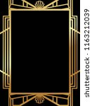 art deco gatsby inspired ... | Shutterstock .eps vector #1163212039