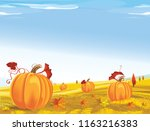 background of field with... | Shutterstock .eps vector #1163216383