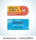 modern colorful tickets for... | Shutterstock . vector #1163220853
