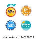 summer sale. design banners and ... | Shutterstock . vector #1163220859