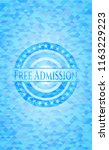 free admission light blue... | Shutterstock .eps vector #1163229223