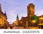 view of old town hall of torun... | Shutterstock . vector #1163233576