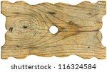 Grunge Wooden Board Shaped  ...