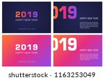 set of greeting card in... | Shutterstock .eps vector #1163253049