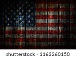 wood usa flag | Shutterstock . vector #1163260150