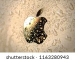 close up of drops of water on... | Shutterstock . vector #1163280943