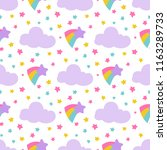 cute baby seamless pattern with ... | Shutterstock .eps vector #1163289733