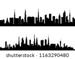 set of silhouette tall building.... | Shutterstock .eps vector #1163290480