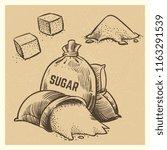 vector sugar of collection.... | Shutterstock .eps vector #1163291539