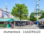 munich  germany   july 26  view ...   Shutterstock . vector #1163296123