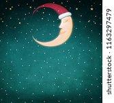 holiday winter night background ...   Shutterstock . vector #1163297479