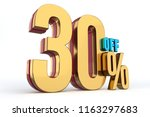 30   off   discount 3d render | Shutterstock . vector #1163297683