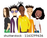 group of people on a white... | Shutterstock .eps vector #1163299636