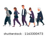 man and woman characters. crowd ... | Shutterstock .eps vector #1163300473