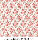 shabby chic rose pattern. scrap ... | Shutterstock .eps vector #116330278