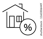 house with percent  credit thin ... | Shutterstock .eps vector #1163306449