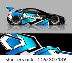 car graphic vector. abstract... | Shutterstock .eps vector #1163307139