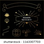 beautiful modern art deco cards ... | Shutterstock .eps vector #1163307703