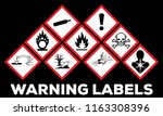 hazard symbol ghs safety icon... | Shutterstock .eps vector #1163308396