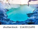aerial  panoramic view of ijen...   Shutterstock . vector #1163311690