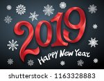 happy new year 2019. greeting... | Shutterstock .eps vector #1163328883